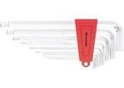 Набор ключей имбусовых HEX, 2–12 мм, CrV,  9 шт., экстра-длин, c шаром, сатин.// MATRIX