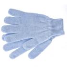 Перчатки трикотажные, акрил, двойные, цвет: голубой, двойная манжета Сибртех Россия