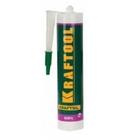Герметик силиконовый KRAFTOOL прозрачный, санитарный, для помещений с повыш. влажностью, 300мл (12шт