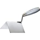 Мастерок из нерж. стали 80 х 60 х 60 мм для внешних  углов, деревянная ручка // MATRIX