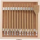 Набор сверл перовых по дереву, 6-8-10-12-13-14-16-18-19-20-22-24-25 мм, 13 шт., дерев. кейс//MATRIX