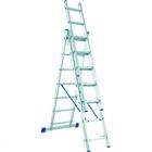 Лестница, 3 х 6 ступеней, алюминиевая, трехсекционная  // СИБРТЕХ // Pоссия