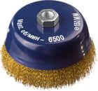 Щетка DEXX чашечная с посадочным М14 для УШМ, витая стальная латунированная проволока 0,3мм, d=150мм