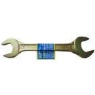 Ключ рожковый, 19 х 22 мм, желтый цинк// СИБРТЕХ
