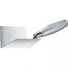 Мастерок из нерж. стали 80 х 60 х 60 мм для внутренних углов, деревянная ручка // MATRIX