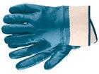 Перчатки рабочие из трикотажа с нитриловым обливом, крага, M //СИБРТЕХ
