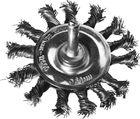 Щетка DEXX дисковая со шпилькой, жгутированные пучки стальной проволоки 0,5мм, d=75мм