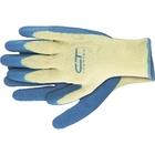 Перчатки хлопчатобумажные, 10 класс вязки, латексное рельефное покрытие, XL// СИБРТЕХ