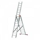 Лестница СИБИН универсальная,трехсекционная со стабилизатором, 12 ступеней