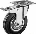 Колесо поворотное d=160 мм, г/п 145 кг, резина/металл, игольчатый подшипник, ЗУБР