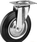 Колесо d=200 мм, г/п 185 кг, резина/металл, игольчатый подшипник, ЗУБР