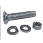 Винт M3x8мм DIN965  ЗУБР с гайкой (DIN934), шайбой (DIN125), шайбой пруж. (DIN127), 55 шт