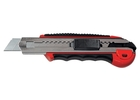 Нож 18 мм, выдвижное лезвие, мет. направляющая, обрез. ручка + 5 лезвий // MATRIX MASTER