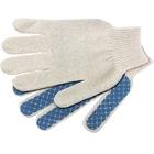 Перчатки трикотажные, с ПВХ Шахматка 52г, 10кл, 10пар/уп