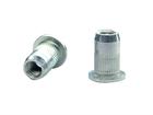Заклепка с внутр. резьб. сталь борт с насечкой BRALO М4 Е>3 мм
