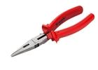 Длинногубцы Econom, 180 мм, прямые шлифованные, пластмассовые рукоятки// MATRIX