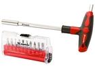 Отвертка с Т-образной эргономичной ручкой ,набором бит и насадок, 20 шт., CrV// MATRIX