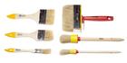 """Набор кистей, 6 предметов: флейц. 3/4"""", 2"""" ,3"""", кругл. 20, 35 мм, мини-макловица 30х120 мм (Hobbi)"""