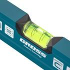 Уровень алюминиевый, 600 мм, магнит, 2 глазка, Magnetisch// Gross