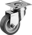 Колесо поворотное с тормозом d=100 мм, г/п 65 кг, резина/полипропилен, ЗУБР