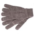 Перчатки трикотажные, акрил, цвет: коричневый, двойная манжета Сибртех Россия