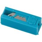 Лезвия 19 мм трапециевидные крючкообразные, пластиковый пенал, 12 шт. // GROSS