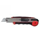 Нож 18 мм, выдвижное лезвие, мет. напрвляющая, обрез. ручка + 5 лезвий // MATRIX MASTER