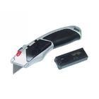 Нож 18 мм, выдвижное трапециевидное лезвие, метт. корпус +8 лезвий // MATRIX MASTER