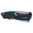 Нож рем-монтажный, трехкомп. рук-ка, автовыброс/возврат лезвия, пистол. типа 170 мм +5 з.л. // GROSS