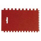 Шпатель пластмассовый малярный, 170 х 115 мм, зубчатый // MATRIX