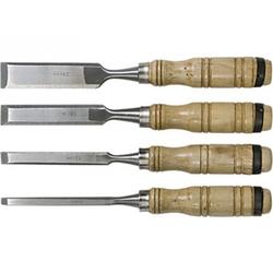 Набор долот-стамесок, 6-12-18-24 мм, плоских, деревянные ручки// SPARTA