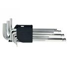 Набор ключей имбусовые 1,5 - 10 мм, удлиненные, с шаром, CrV, 9 шт // MATRIX