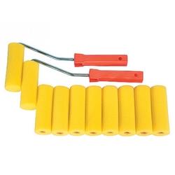 Набор мини-валиков  ПОРОЛОН , 100 мм, D - 35 мм, D ручки - 6 мм, 10 шт. +2 бюгеля // SPARTA