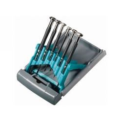 Набор отверток для точной механики, CrMo, метал.обрезин.рукоятки, 6 шт.,бокс - трансформер// GROSS