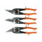 Ножницы по металлу 250 мм, обрезиненные ручки, 3 шт. (прямые, левые, правые) // SPARTA