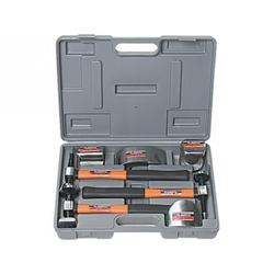 Набор рихтовочный, 3 молотка с фибергласовыми ручками, 4 наковальни, в пласт. боксе // MATRIX