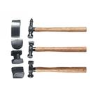 Набор рихтовочный, 3 молотка с деревянными ручками, 4 наковальни // SPARTA
