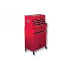 Шкаф для инструмента 2-секцион, 600 х 260 х 340 мм, 616 х 330 х 658 мм, на колесах, 14 ящ // MATRIX