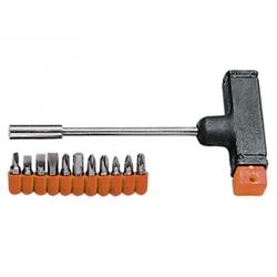 Отвертка с Т - образной ручкой, набор бит, 11 шт // SPARTA