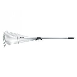 Грабли веерные 15-зубые, алюминевый черенок 1600 мм, раздвижные // POLISAD