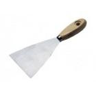Шпатель нержавеющая сталь, 80 мм, деревянная ручка // SPARTA