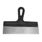 Шпатель нержавеющая сталь зубчатый 450 мм (8 х 8), пластмассовая ручка // СИБРТЕХ