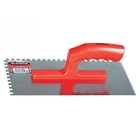 Гладилка стальная 280 х 130 мм зеркальная полировка пласт. ручка зуб (8 х 8) // MATRIX