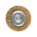 Щетка для УШМ 200 мм, посадка 22,2 мм, плоская, латунированная витая проволока // MATRIX