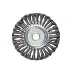 Щетка для УШМ 200 мм, посадка 22,2 мм, плоская, крученая металлическая проволока // MATRIX