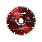 Диск алмазный отрезной сегментный 230 х 22,2 мм // MATRIX PROFESSIONAL