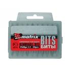 Набор бит Ph1 х 25 мм, сталь 45Х, в пласт. боксе, 20 шт. // MATRIX
