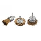 Набор щеток для дрели, 3 шт., 1 плоская, 50 мм, +2  чашки , 25-50 мм, со шпильками, мет. // MATRIX