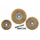 Набор щеток для дрели, 3 шт., 3 плоские, 50-63-75 мм, со шпильками, металлические // MATRIX