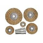 Набор щеток для дрели, 5 шт., 5 плоских, 25-38-50-63-75 мм, со шпильками, металлические // MATRIX